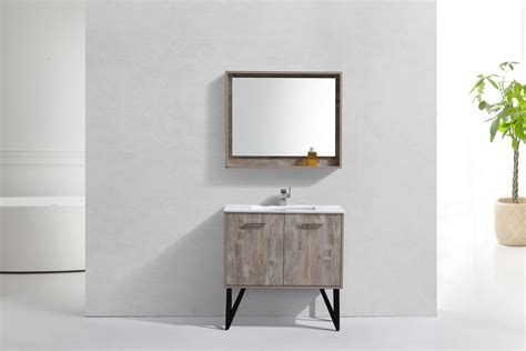 forest 36quot modern bathroom vanity and matching mirror