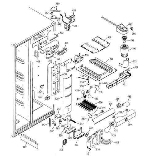 ge profile refrigerator diagram fresh food section diagram parts list for model