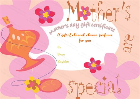 free printable gift certificates for mother s day five petals mother s day gift certificate template