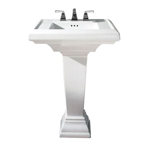 Home Depot Bathroom Sink by American Standard Evolution Pedestal Combo Bathroom Sink With 4 In Centers In White 0468 400