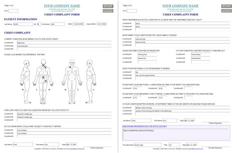 hospital admission form template hospital admission form template