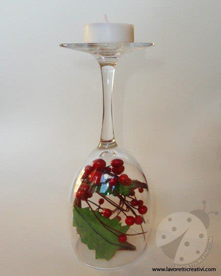 Centrotavola Con Bicchieri Centrotavola Di Natale Con I Bicchieri