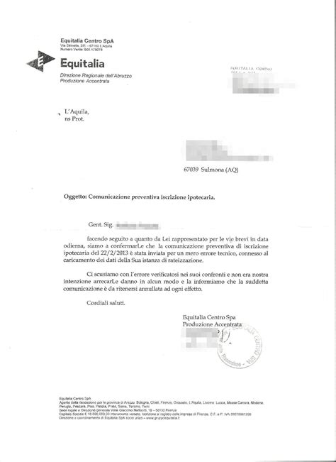 lettere di comunicazione equitalia minaccia il pignoramento e poi chiede scusa il