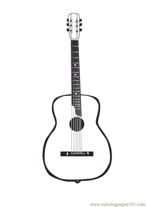 coloring book pages guitar guitar coloring page free music coloring pages