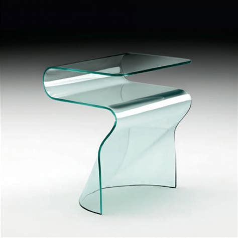 table de nuit en verre table de chevet design en verre