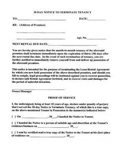 30 Day Notice To Terminate Tenancy Letter by 15 Notice Letters Free Premium Templates