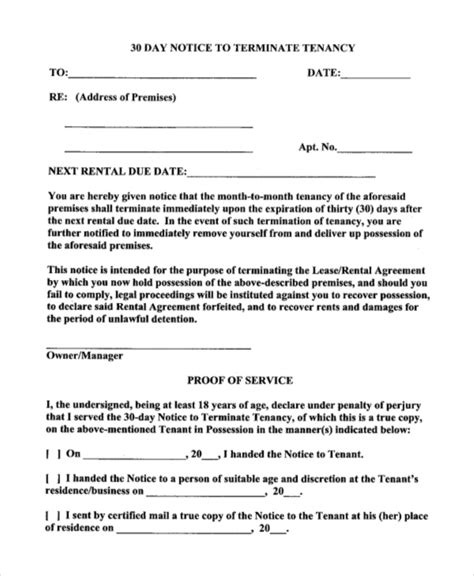 30 day notice contract termination letter template 19 notice letters free premium templates
