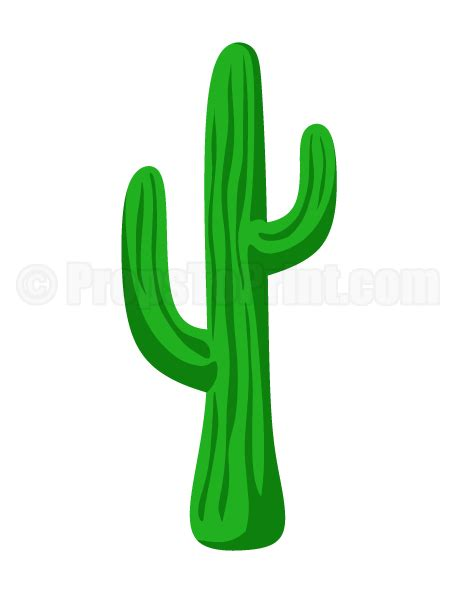 cactus template popup card pdf printable cactus photo booth prop create diy props with