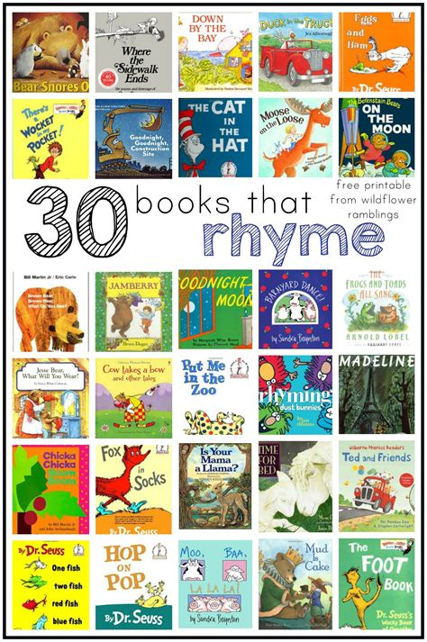 rhyming picture books best rhyming books for children wildflower ramblings
