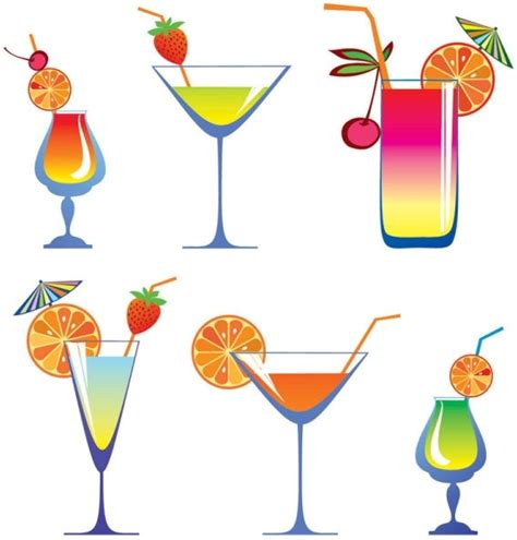 cocktail cartoon vector cocktail glass cartoon free vector download 16 888