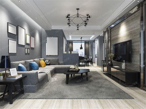 modern living room  dining room  model max ds fbx