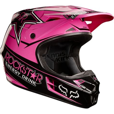 pink motocross helmet pink rockstar fox racing helmet up north pinterest
