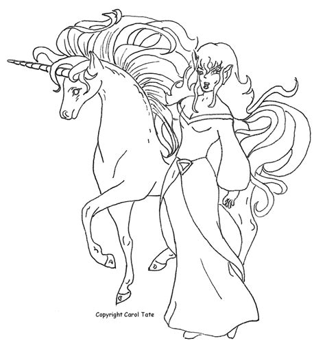 the gallery for gt unicorn and princess coloring page