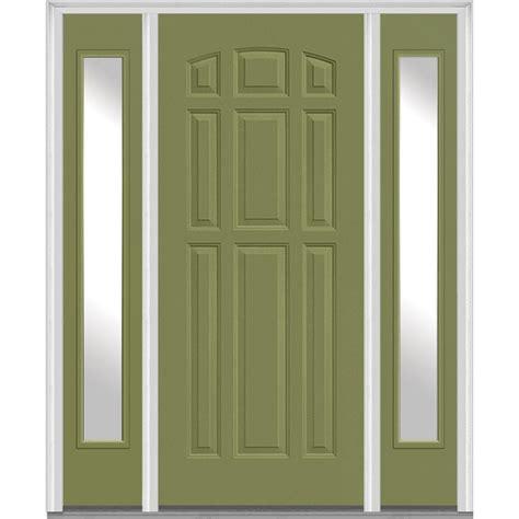 5 Panel Exterior Door Mmi Door 68 5 In X 81 75 In 9 Panel Painted Fiberglass Smooth Exterior Door With Sidelites