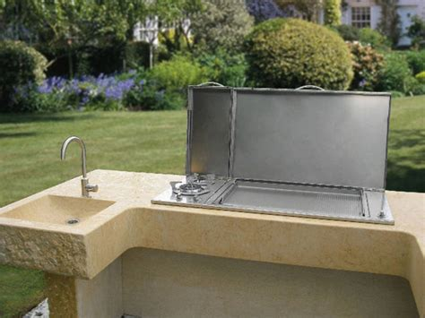 piano cottura da esterno barbecue a gas da incasso per esterno pla net barbecue