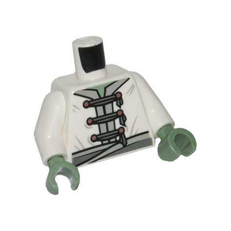 Lego Part White Torso Octan Logo Jacket With And Green Stripe lego white yang jacket brick owl lego marketplace