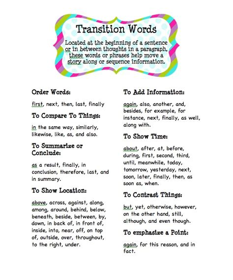 Transition Words For Essays by Words To Help Essay Flow Ssays For Sale