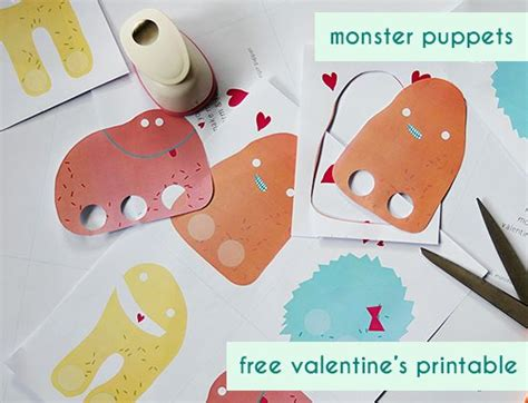 card finger puppet template free printable puppet valentines for
