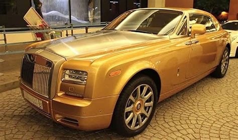 rolls royce phantom gold most expensive rolls royce cars in the world