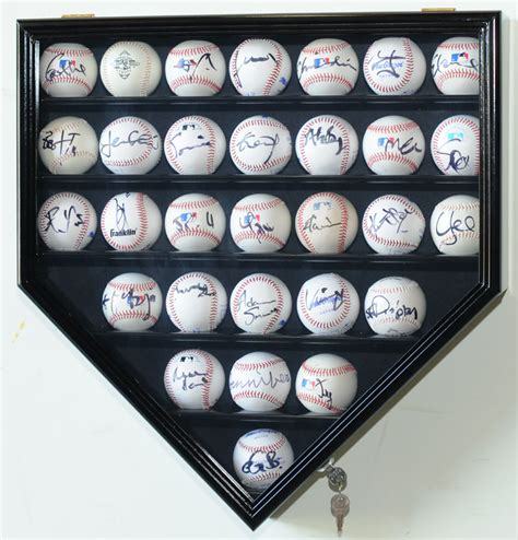 why is home plate in baseball shaped differently than the 30 baseball ball display case cabinet holder rack home
