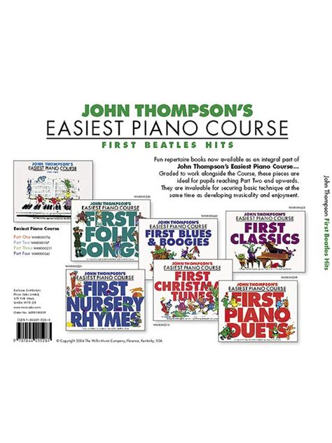 john thompsons easiest piano john thompson s easiest piano course first beatles hits piano instrumental album sheet