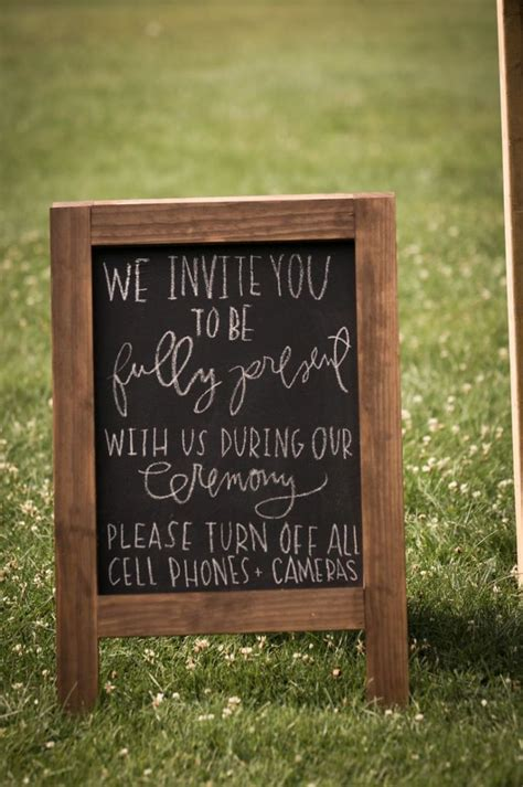 No At Your Wedding by How To Ask Wedding Guests Not To Take Photos