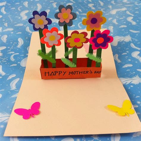 handmade mothers day cards step by step diy pop up flower mother s day card scissors flower and