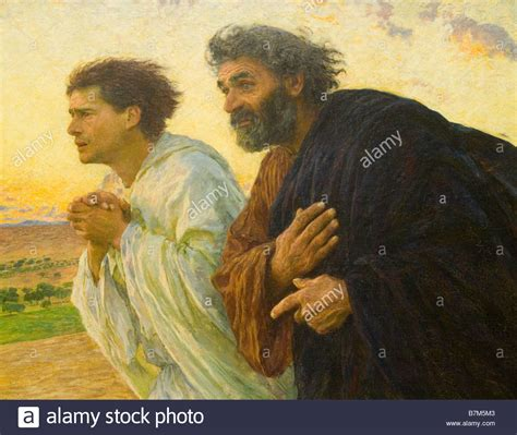 les disciples pierre et jean by eugene bernard musee d orsay in stock photo 21956483 alamy