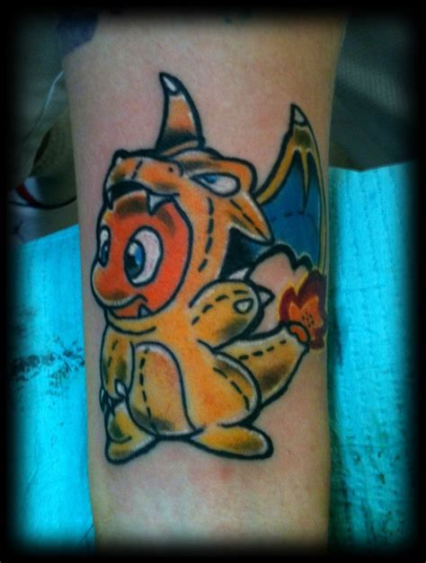 charizard tattoo charmander as charizard by kingkazumatf on deviantart