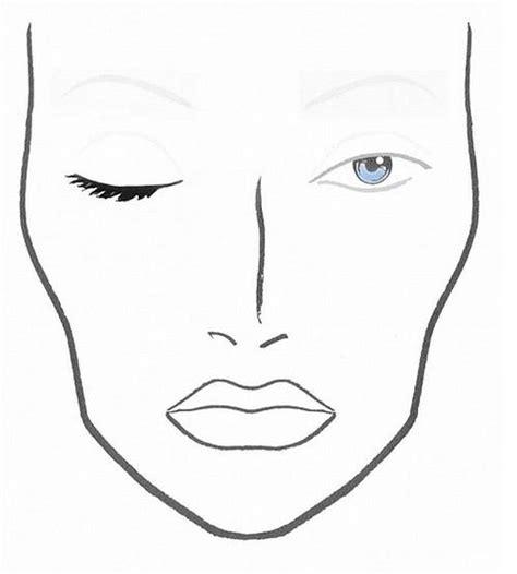 makeup face charts tumblr