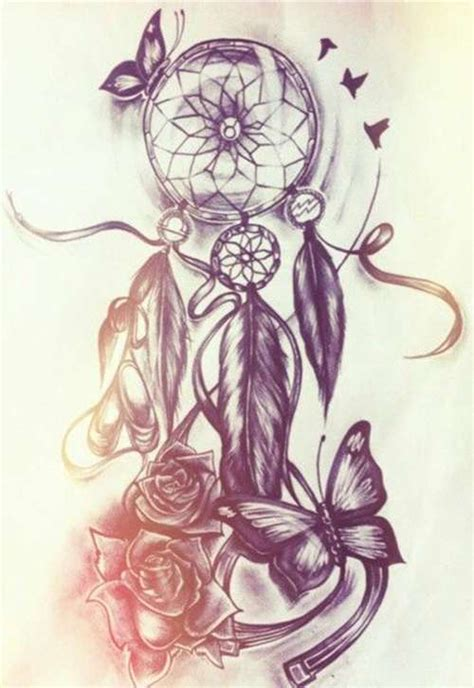 rose and dreamcatcher tattoo catcher tattoos best in 2017