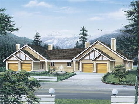 two family homes bradenton multi family duplex plan 008d 0100 house plans
