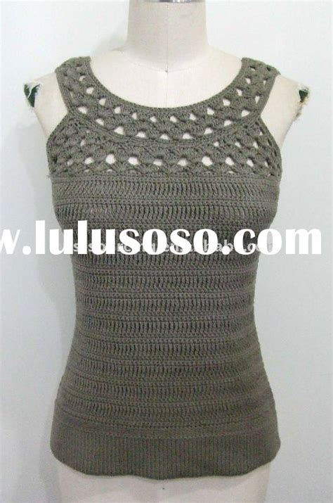 Bs Knit Top womens crochet vest top crochet and knit