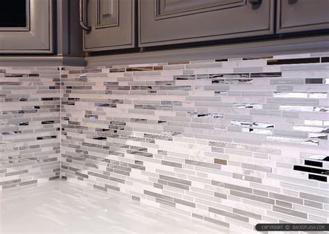Brick Kitchen Backsplash by 5 Modern White Marble Glass Metal Kitchen Backsplash Tile