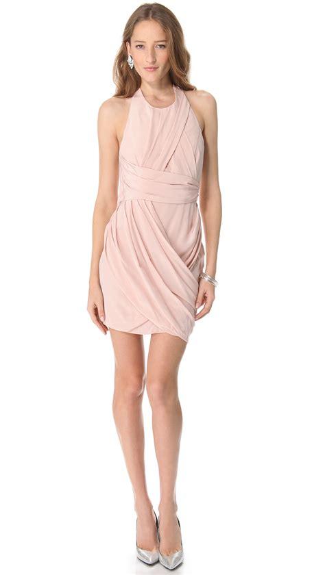 zimmermann draped dress zimmermann back drape dress white in pink lyst
