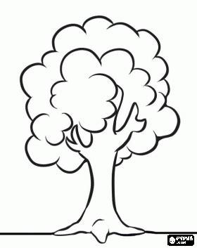 Desenhos Para Pintar Desenhos De Arvores Gr 225 Tis Simple Tree Coloring Page