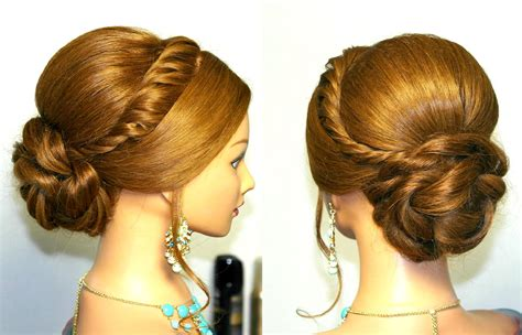 evening hairstyles youtube wedding prom updo hairstyle for long hair tutorial youtube