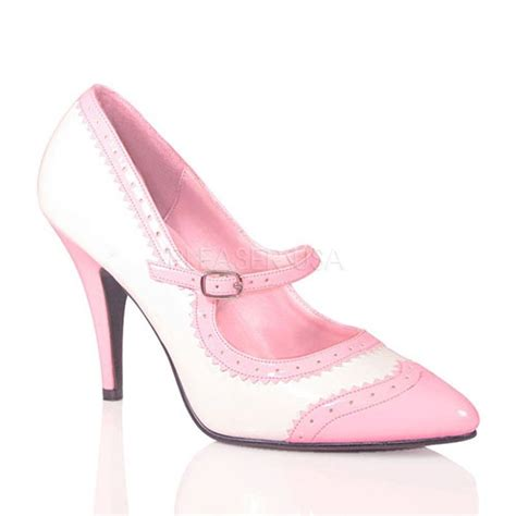 pink white patent maryjane style heels heel shoes