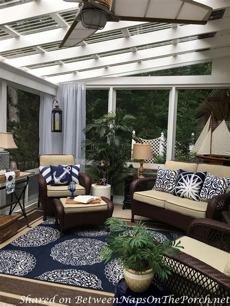 nautical decor tablescape    season porch