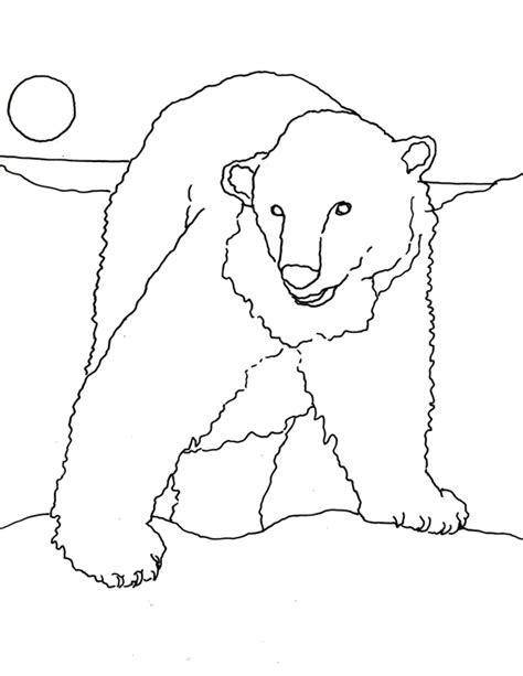 coloring page for polar bear caroline arnold art and books polar bear coloring page