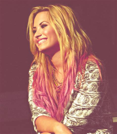 demi lovato inspired pink purple dip dye ombre hair blonde cute demi demi lovato image 622320 on favim com