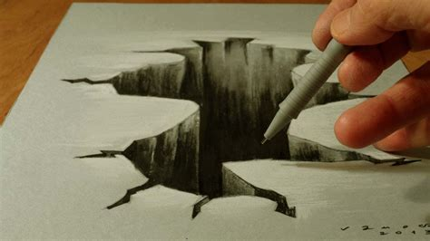 How To Make 3d Sketch On Paper - how to draw drawing 3d trick on paper