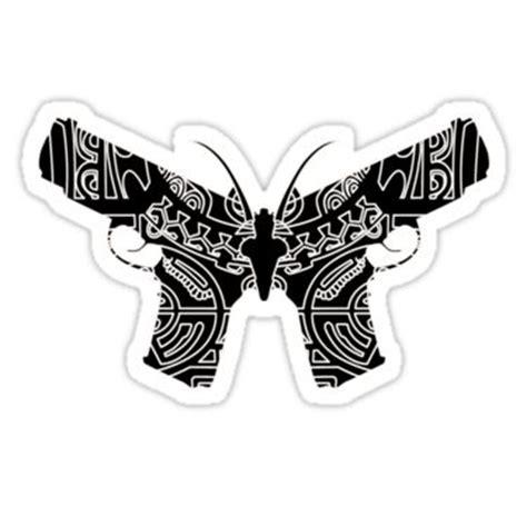 butterfly tattoo gun guns butterflies and logos on pinterest