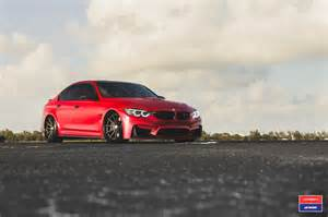 Bmw M3 Custom 2017 Bmw M3 Facelift In Gets Custom Vossen Wheels