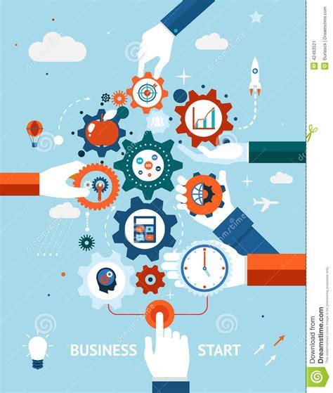 art design entrepreneurship business and entrepreneurship business start stock vector