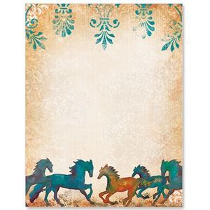Painted Horses Border Papers   PaperDirect's