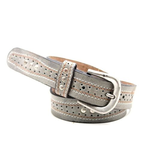 lapalma gray leather belt for buy at low