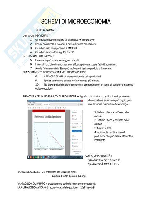 dispensa economia politica schemi e formulario appunti di economia politica