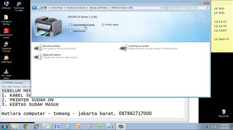 cara reset printer epson lq 1170 cara instalasi printer epson dot matrix di windows 7