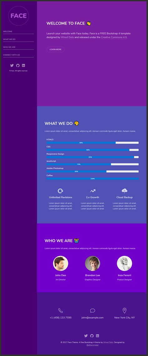 bootstrap themes single page single page bootstrap 4 theme bypeople
